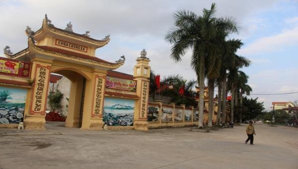 Cổng chính chùa Cương Xá