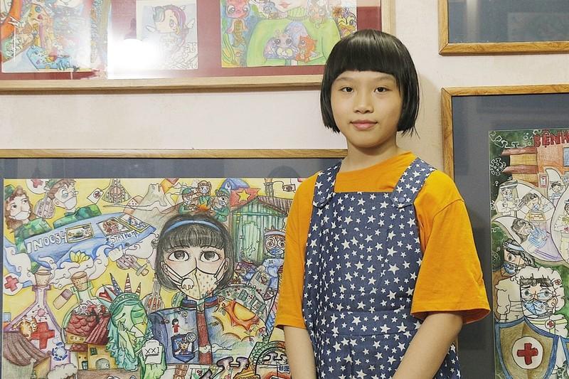 Những bức tranh về chống Covid-19 của cô bé Việt Nam lên báo quốc tế