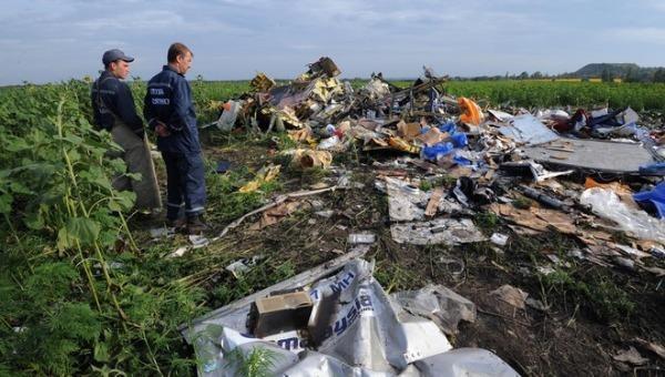 Hiện trường máy bay MH-17 bị bắn rơi tại miền đông của Ucraine hồi tháng 7/2014.