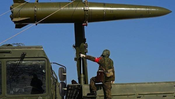 Tên lửa tác chiến Iskander-M mà các binh sỹ Nga ở Syria.