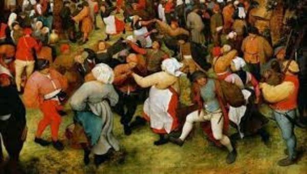 """Họa hình """"dịch bệnh"""" nhảy múa cuồng loạn đến chết ở Pháp thế kỷ 16."""