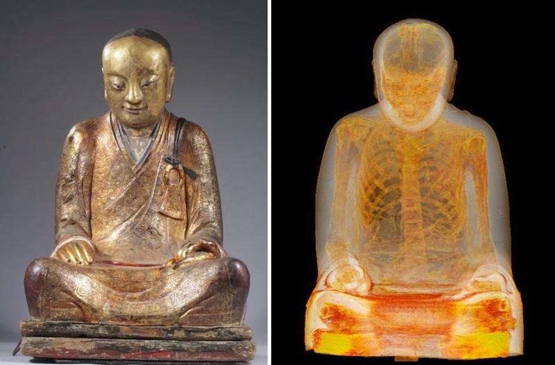 Bức tượng Phật ẩn chứa xác ướp của một vị thiền sư Bức tượng có thể đã bị đánh cắp từ một ngôi làng ở tỉnh Phúc Kiến, Trung Quốc cách đây 20 năm.
