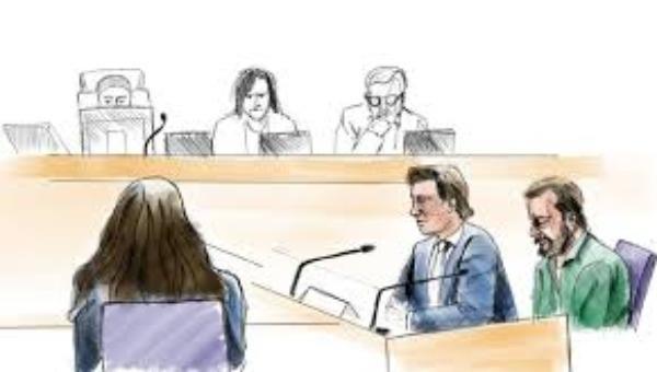 Bức phác họa phiên tòa đối với Daniel Nyqvist.
