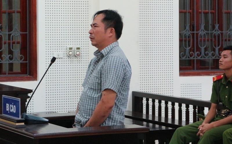 Bị cáo Nguyễn Trung Kiên tại tòa.