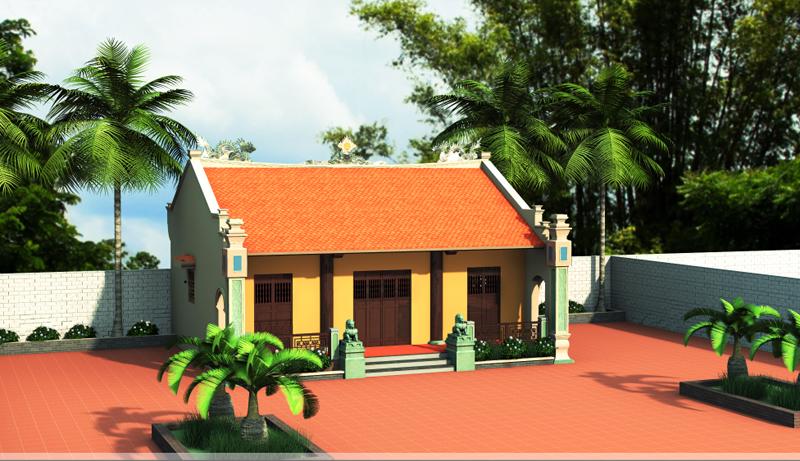 (Hình ảnh 3D về một ngôi nhà thờ họ).