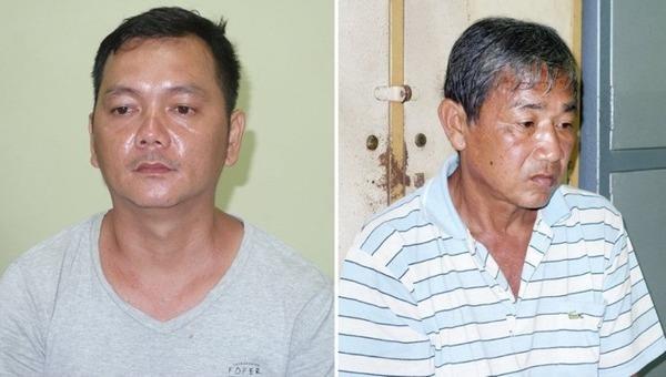 Các bị can Võ Minh Tâm (trái) và Trần Văn Hải.