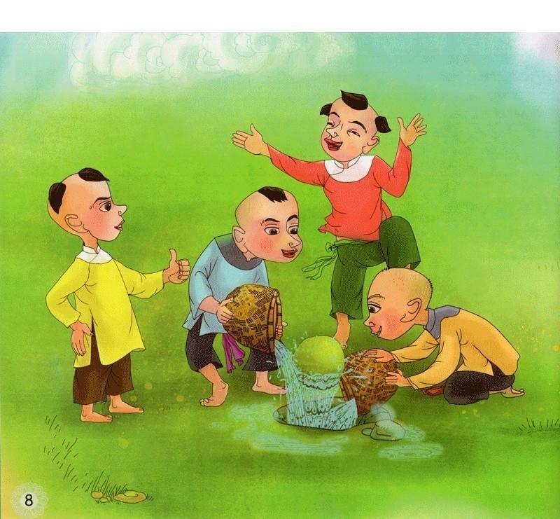 Hình ảnh trên bộ truyện tranh giai thoại về Lương Thế Vinh.