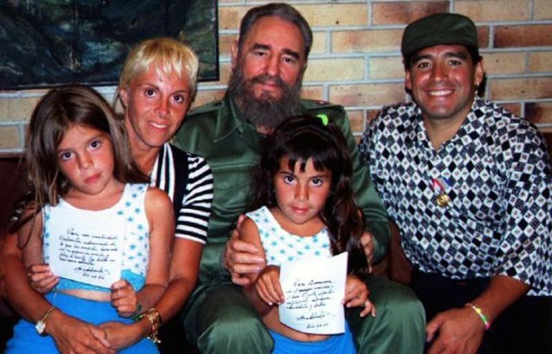 Chủ tịch Cuba Fidel Castro - người bạn tâm giao vĩnh cửu của Maradona