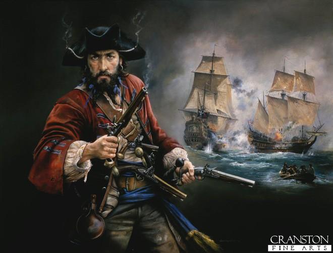 Chân dung cướp biển Edward Teach.