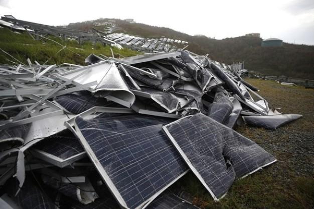 Một bãi rác thải điện năng lượng mặt trời ở Úc. (Ảnh: Inside Waste)