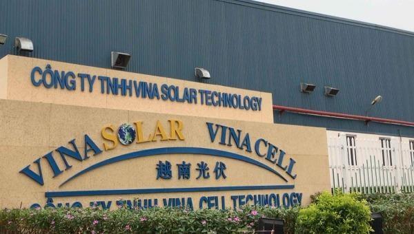Công ty TNHH VinaSolar Technologi vi phạm quy định về sử dụng đất đai tại KCN Đình Trám.