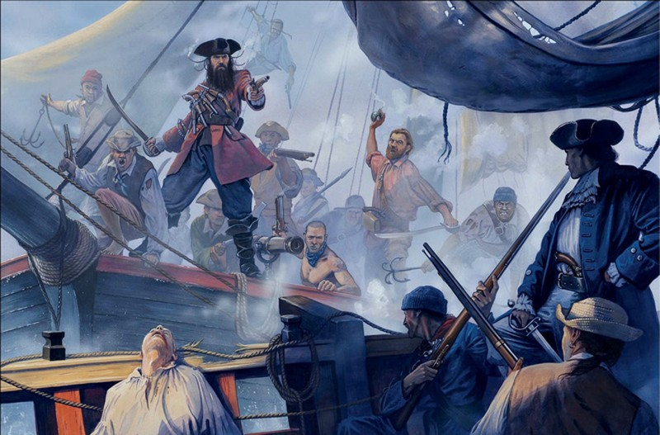 Cướp biển khét tiếng vùng Atlantic - (Kỳ cuối): Ngày tàn của tướng cướp biển Râu Đen