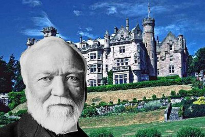 Vua thép Andrew Carnegie.
