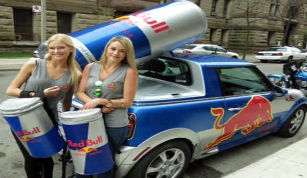 Chiến dịch quảng cáo Red Bull.