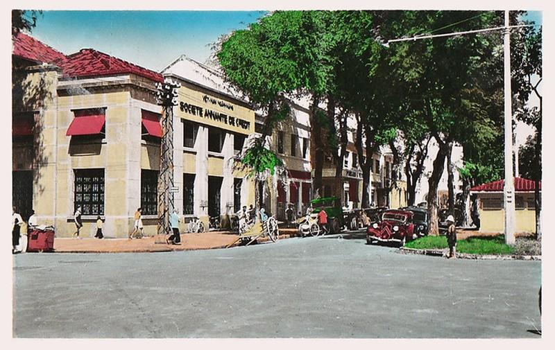 Trụ sở công ty tín dụng An Nam (Việt Nam Ngân hàng)  ở góc Boulevard Charner và Ohier, Sài Gòn (góc đại lộ Nguyễn Huệ và Tôn Thất Nghiệp, TP HCM ngày nay). Ảnh tư liệu.