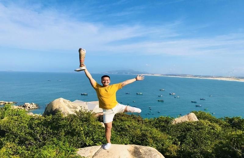 Hình ảnh truyền cảm hứng của anh Nguyễn Văn Lưu.