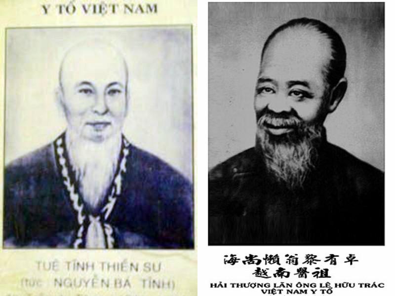 Đại danh y Tuệ Tĩnh và Lê Hữu Trác - hai ông tổ của nền y học Việt Nam.