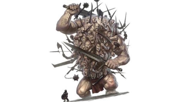 Thần Hecatonchires có 100 tay và 50 cái đầu.