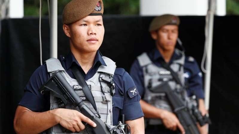 Một binh sĩ Gurkha tại Đối thoại Shangri-la ở Singapore ngày 1/6/2018.