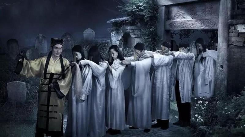 Tái hiện thuật cản thi của người Trung Quốc.