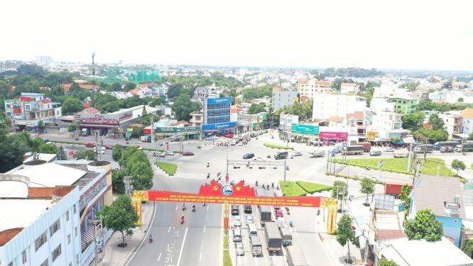 Toàn cảnh thành phố Thủ Dầu Một (Bình Dương).