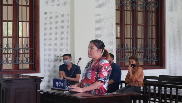 Bị cáo Trần Thị Thu.