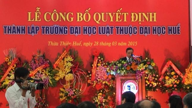 PGS, TS Đoàn Đức Lương phát biểu tại buổi lễ