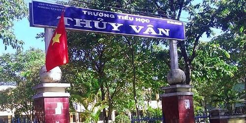 Trường Tiểu học Thủy Vân nơi xảy ra sự việc giáo viên bị hành hung.