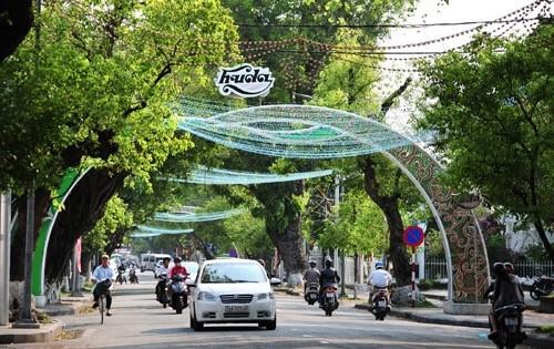 Con đường ánh sáng trên đường Lê Lợi thành phố Huế