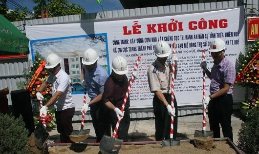 Khởi công xây dựng Cụm kho vật chứng THADS tỉnh Thừa Thiên Huế