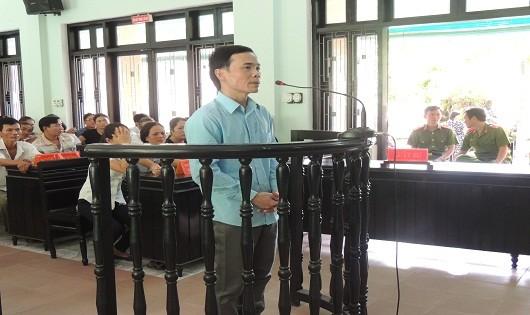Bị cáo Nguyễn Văn Thắng tại phiên tòa xét xử sáng nay