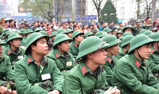 Các tân binh rạng rỡ ngày nhận quân
