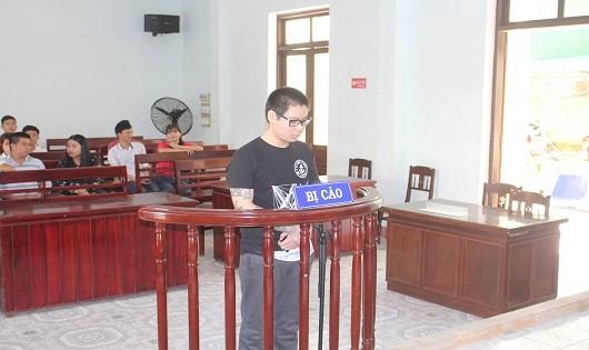 Bị cáo Nguyễn Huy Đức tại tòa