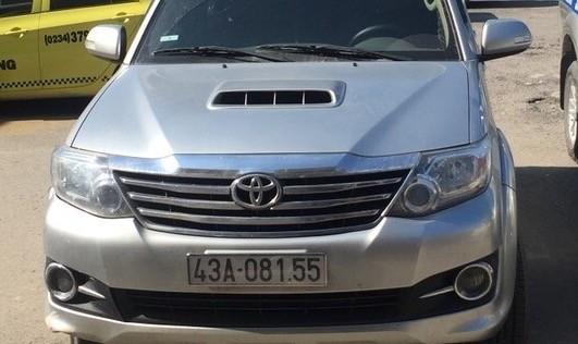 Chiếc xe do tài xế Lê Phước Châu Trung điều khiển