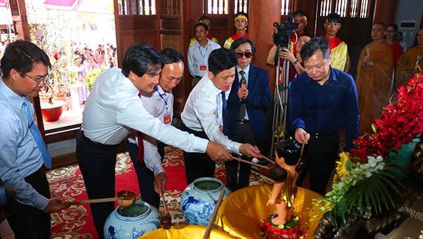 Quảng Bình: Khai hội Di tích lịch sử Quốc Gia chùa Hoằng Phúc