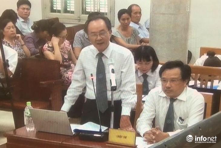Luật sư Nguyễn Minh Tâm trình bày quan điểm tại tòa