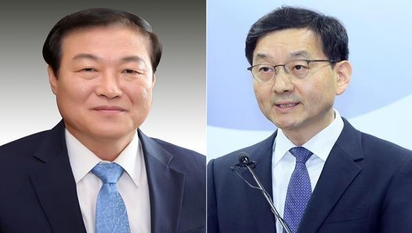 Ông Chung Man Ho (trái) được bổ nhiệm làm cố vấn cấp cao phụ trách truyền thông và ông Yoon Chang Yul (phải) được bổ nhiệm làm cố vấn cấp cao phụ trách vấn đề chính sách xã hội.