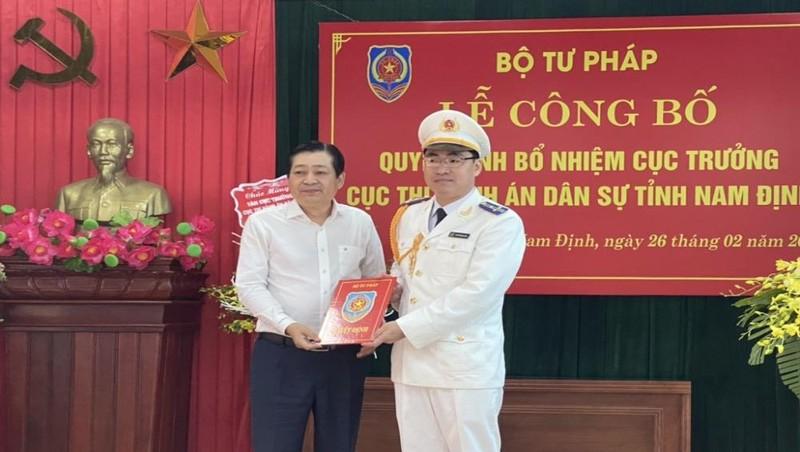 Bổ nhiệm Cục trưởng Cục Thi hành án dân sự tỉnh Nam Định