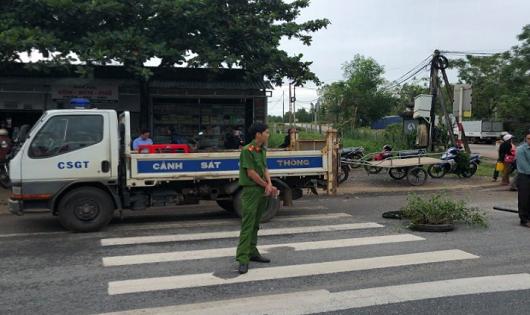 Hiện trường vụ tai nạn (ảnh: Minh Tuấn)