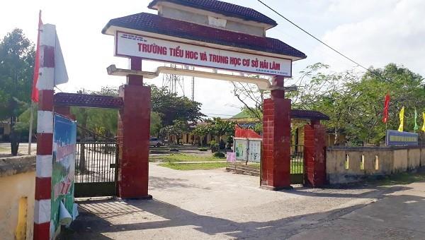 Trường Tiểu học & Trung học cơ sở Hải Lâm – nơi xảy ra sự việc