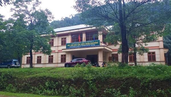 Trụ sở Khu Bảo tồn thiên nhiên Đakrông, nơi ông Thái công tác