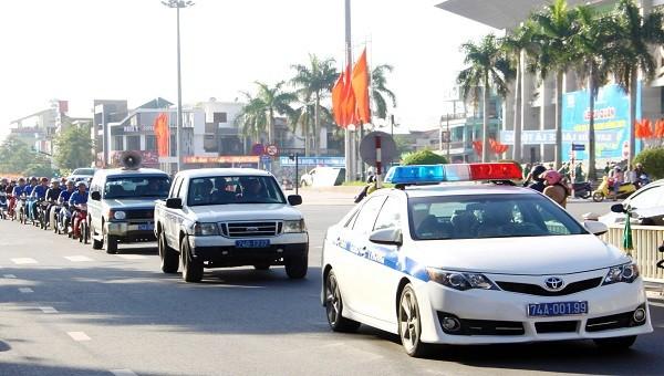 Các lực lượng tham gia diễu hành trên các tuyến đường