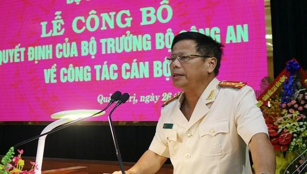 Phó Giám đốc Công an tỉnh Thừa Thiên Huế được điều động làm Giám đốc Công an Quảng Trị