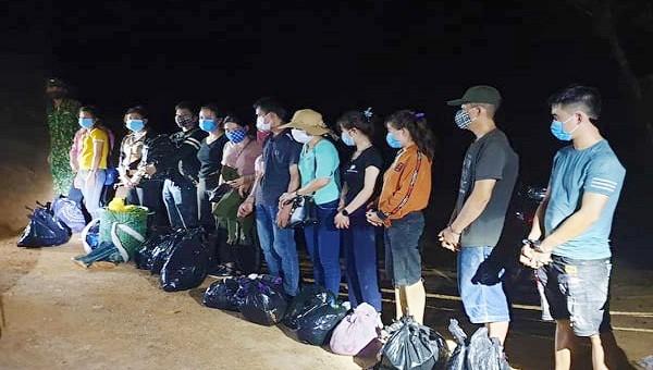 13 đối tượng xuất cảnh trái phép bị lực  lượng biên phòng Quảng Trị phát hiện, bắt giữ