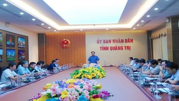 Chủ tịch UBND tỉnh Quảng Trị Võ Văn Hưng phát biểu tại cuộc họp