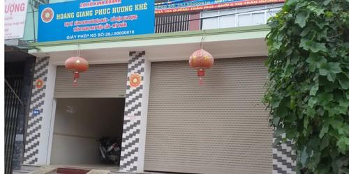 Cơ sở Hoàng Giang Phúc, Cty Thiên Ngọc Minh Uy tại Hương Khê, Hà Tĩnh