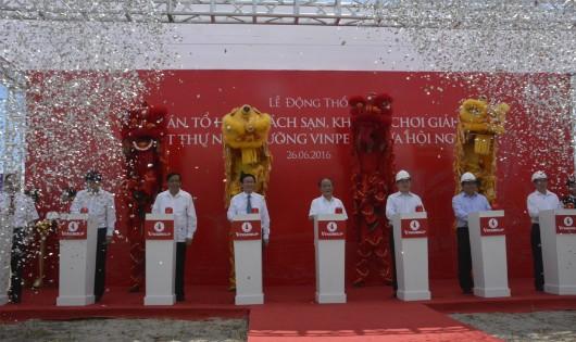 Tập đoàn VinGroup khởi công dự án tổ hợp biệt thự cao cấp tại Hà Tĩnh