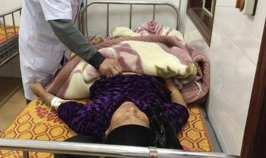 Bà Ngại đang điều trị tại bệnh viện