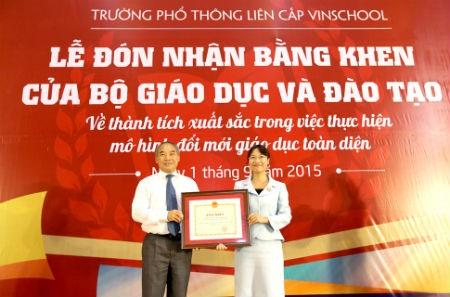 Bộ Giáo dục và Đào tạo ghi nhận sự chủ động sáng tạo của Vinschool trong thực hiện mô hình đổi mới giáo dục toàn diện