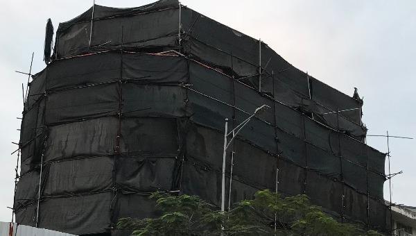 Công trình 'khủng' 4 tầng nổi, 1 tầng hầm và 1 tầng mái xây dựng trái phép đang trong giai đoạn hoàn thiện